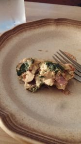 Western Omlet Quiche open